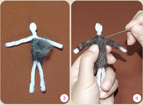 フェルト人形作り方