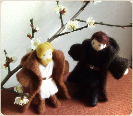 梅の花とアナキン&オビワン